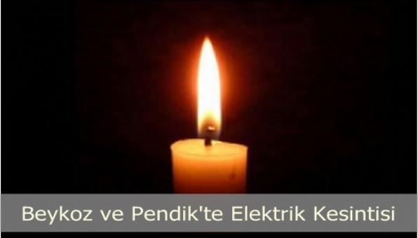 İstanbul Beykoz ve Pendik´te Elektrik kesintisi