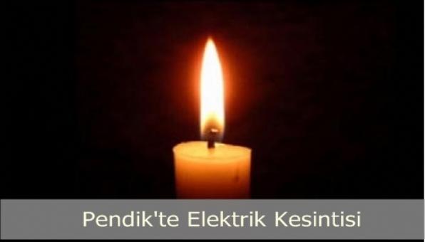 Pendik te Elektrik Kesintisi