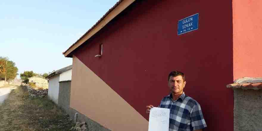 Vatandaş 'Gülen' sokak isminin değiştirilmesini istedi