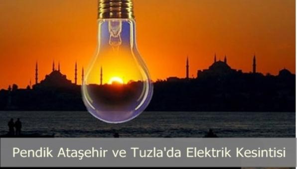 Tula Pendik ve Ataşehir de Elektrik Kesintisi