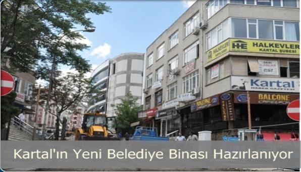 Kartal Yeni Belediye Binasını Tamamlamak Üzere