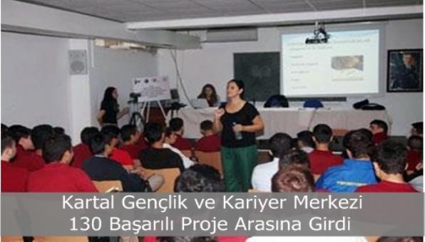 Kartal Gençlik ve Kariyer Merkezi 130 Başarılı Proje Arasına Girdi