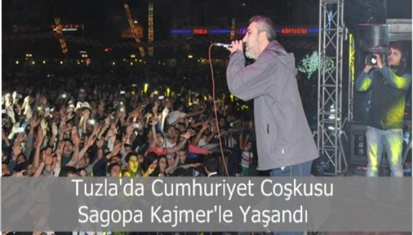 Tuzla Cumhuriyet Bayramını Sagopa Kajmerle Kutladı