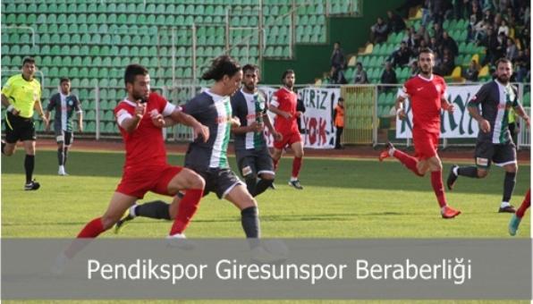 Pendikspor Giresunspor 0-0 Berabere Kaldı
