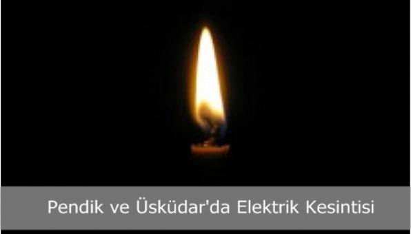 Pendik ve Üsküdar´da Elektrik Kesintisi
