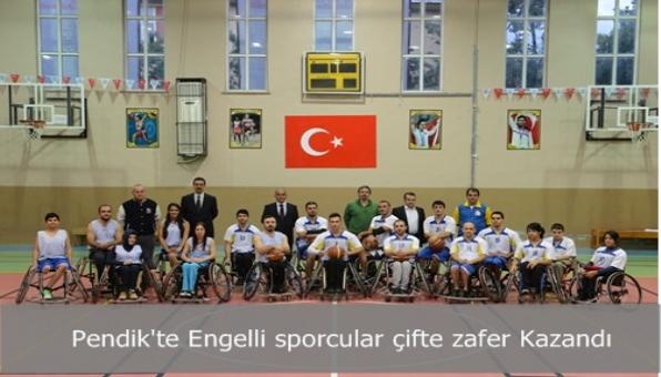 Pendik´te Engelli sporcular çifte zafer Kazandı