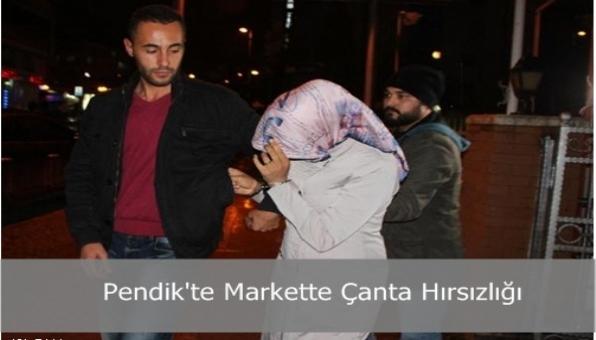 Pendik´te Markette Çanta Hırsızlığı
