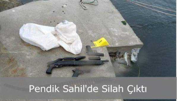 Pendik Sahil´de Silah Çıktı