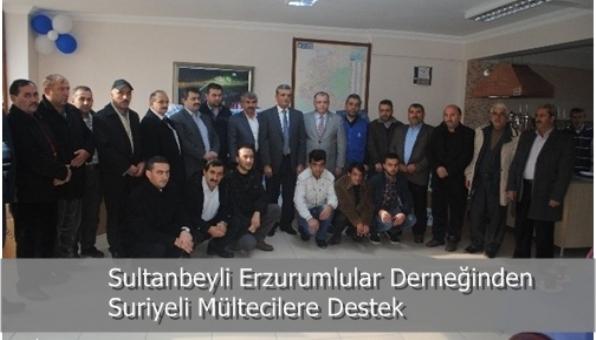 Sultanbeyli Erzurumlular Derneğinden Suriyeli Mültecilere Destek