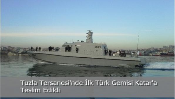 Tuzla Tersanesi´nde İlk Türk Gemisi Katar´a  Teslim Edildi