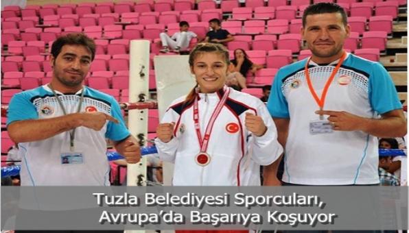 Tuzla Belediyesi Sporcuları, Avrupa'da Başarıya Koşuyor