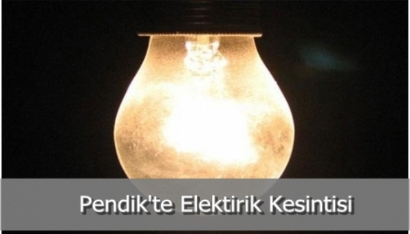 Pendik´te Elektirik Kesintisi