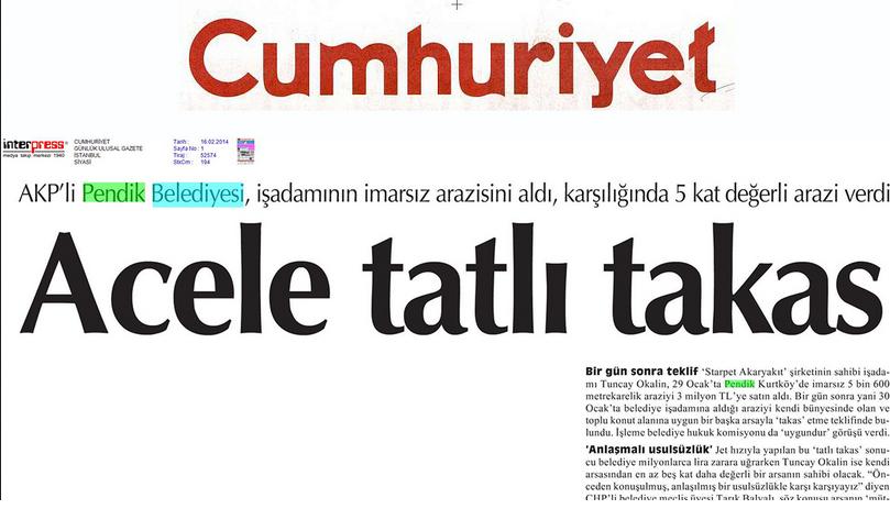 Pendik Belediyesi, Cumhuriyet Gazetesini Yalanladı
