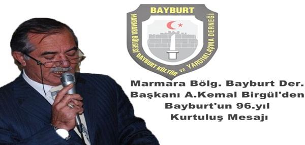 Marmara Bölg. Bayburt'lular Der. 21 Şubat Mesajı