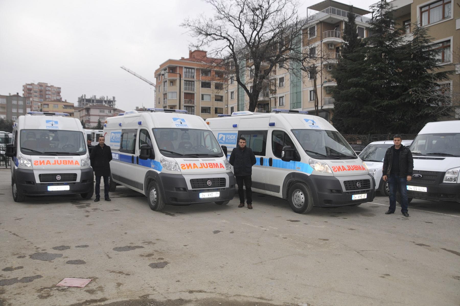 """Pendik Belediyesinden """"Pendik'e 3 Yeni Ambulans"""""""