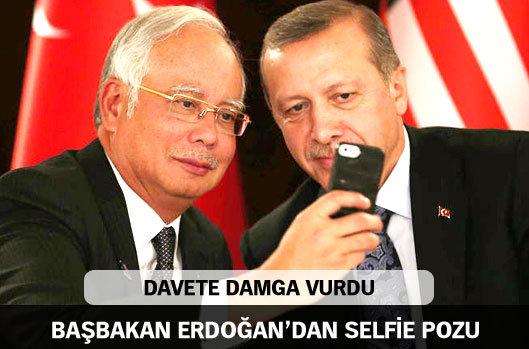 Erdoğan'dan selfie pozu
