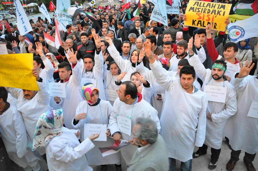 Tuzla'da Mısırdaki 529 İdam Kararı Protesto Edildi