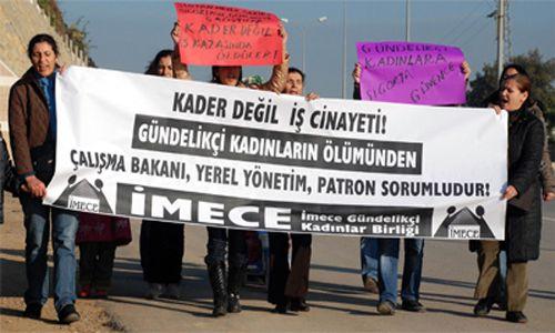 Gündelikçi Kadınlar Kazayı Protesto Etti