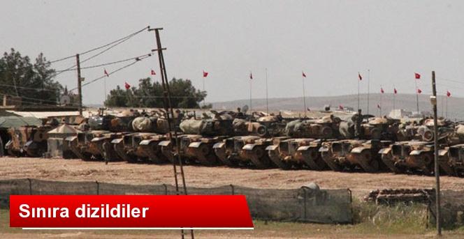 T.C Tankları, Suriye Sınırına Dizildi