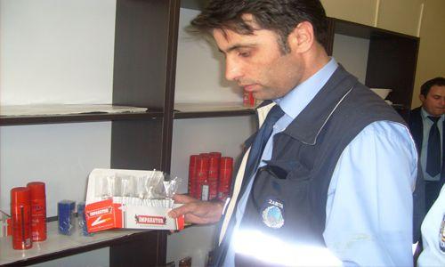 Kaçak sigara satan işyerine baskın!