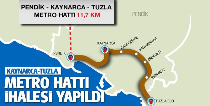 Kaynarca-Tuzla Metro hattı İhalesi Yapıldı