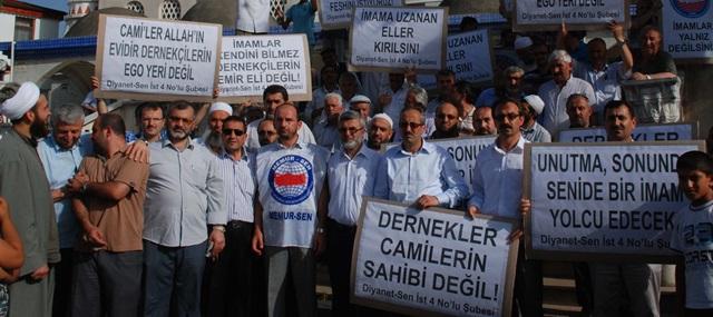 Tuzla'da Din Görevlilerinden Protesto