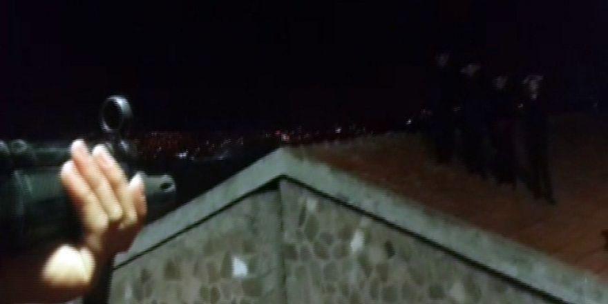 Cezaevinden firar girişimi çatıda son buldu