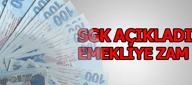 SGK emeklileri için maaş zam oranı açıklandı