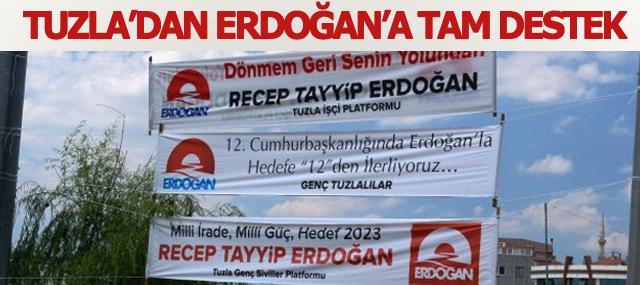 Tuzla'dan Başbakan Erdoğan'a tam destek