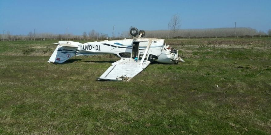 Samsun'da eğitim uçağının düşmesi