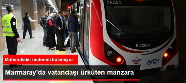 Marmaray'ın Yeraltı Tünellerindeki Lekelerin Sırrı Çözülemiyor