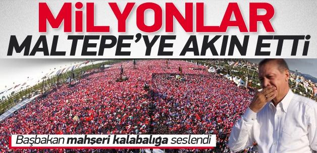 Recep Tayyip Erdoğan, Maltepe mitinginde milyonlara seslendi