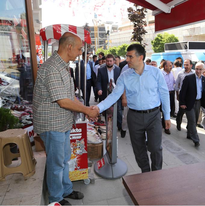 Başkan Hüseyin Keskin'den Esnaf Ziyareti