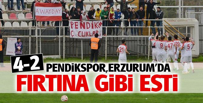 Pendikspor, Erzurum'da Fırtıma gibi esti! 4-2
