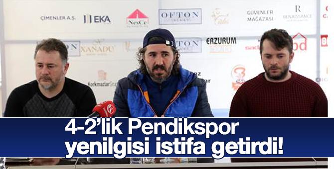 4-2'lik Pendikspor yenilgisi istifa getirdi!