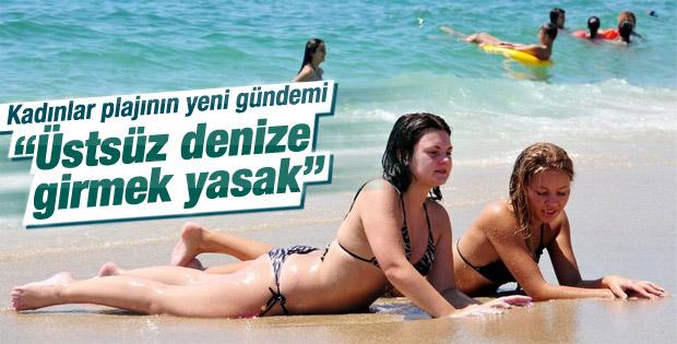 Kadınlar plajında üstsüz tartışması