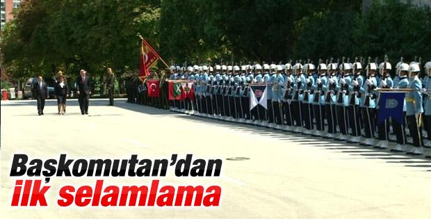 Recep Tayyip Erdoğan'a Çankaya'da İlk Selamlama