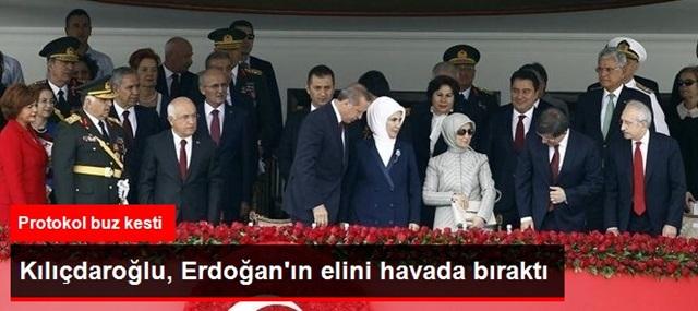 Kılıçdaroğlu, Cumhurbaşkanı Erdoğan'ın Elini Havada Bıraktı