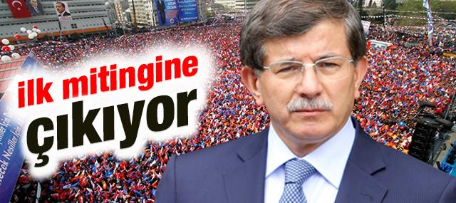Başbakan Ahmet Davutoğlu İlk Mitingini ...