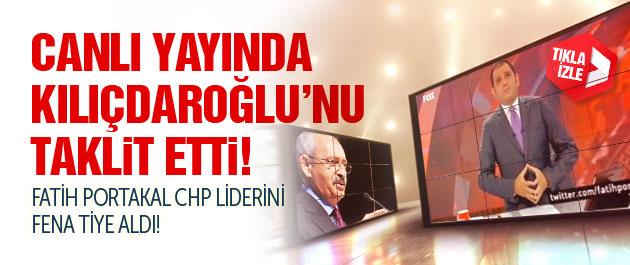 Fatih Portakal, Kılıçdaroğlu'nu taklit etti