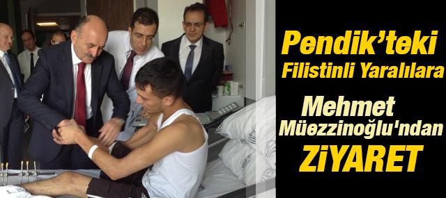 Mehmet Müezzinoğlu'ndan Pendik'ki Filistinli Yaralılara Ziyaret