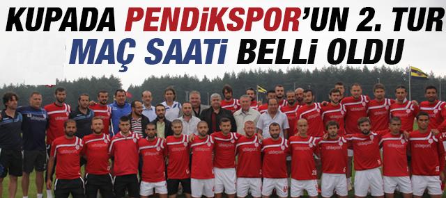 Kupada Pendikspor'un 2. Tur Maç saati belli oldu