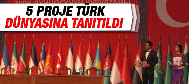 5 Proje Türk Dünyasına Tanıtıldı