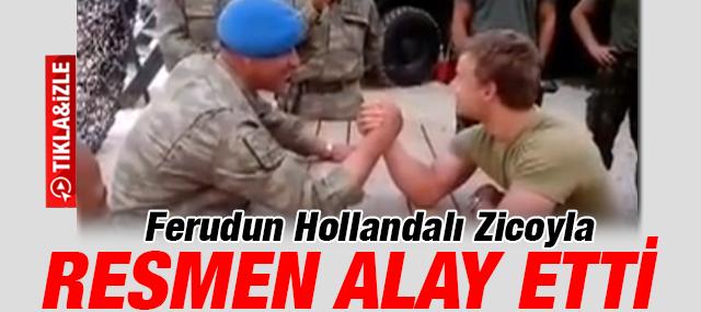 Türk ve Hollandalı askerlerin bilek güreşi - İZLE