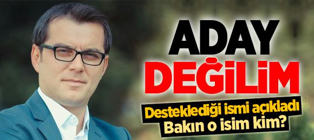 """Murat Türkyılmaz """"Aday Değilim"""" dedi. Peki Kime Destek Veriyor?"""