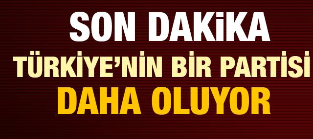 Türkiye'nin Yeni Bir Partisi Daha Oluyor! Dilekçe Bakanlıkta