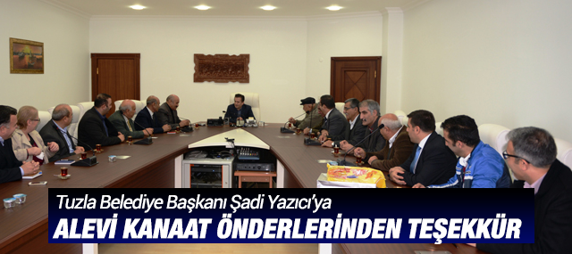 Alevi Kanaat Önderlerinden Başkan Yazıcı'ya Teşekkür