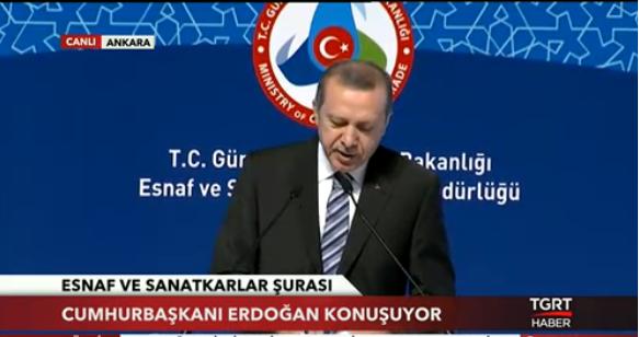 Cumhurbaşkanı Recep Tayyip Erdoğan'ın ATO'daki Esnaf ve Sanatkarlar konuşması
