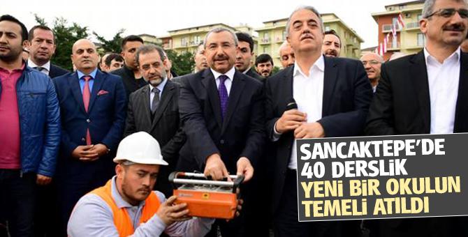 Sancaktepe Atatürk Mahallesi'ne 40 derslik ortaokul'un temeli atıldı