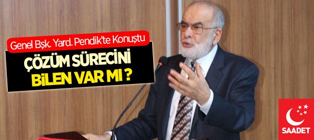 Temel Karamollaoğlu: Çözüm Sürecinin Mahiyetini Bilen Var Mı?